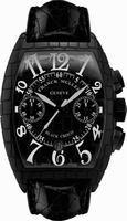 Franck Muller Black Croco Large Mens Wristwatch 8880 CC AT BLK CRO