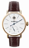 Bell & Ross WW1 Heure Sautante Rose Gold Mens Wristwatch
