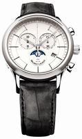Maurice Lacroix Les Classiques Phase de Lune Chronograph Mens Wristwatch LC1148-SS001-130