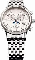 Maurice Lacroix Les Classiques Phase de Lune Chronograph Mens Wristwatch LC1148-SS002-130
