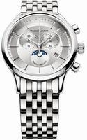 Maurice Lacroix Les Classiques Phase de Lune Chronograph Mens Wristwatch LC1148-SS002-131