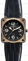 Bell & Ross BR 01-92 Pink Gold & Carbon Mens Wristwatch BR0192-BICOLOR