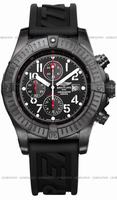 Breitling Super Avenger Black Steel Mens Wristwatch M1337010.B930-122S