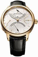Maurice Lacroix Masterpiece Double Retrograde Mens Wristwatch MP7218-PG101-130
