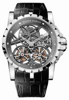 Roger Dubuis Excalibur Skeleton Double Flying Tourbillon Mens Wristwatch RDDBEX0269