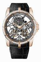 Roger Dubuis Excalibur Skeleton Double Flying Tourbillon Mens Wristwatch RDDBEX0407