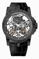 Roger Dubuis Excalibur Skeleton Double Flying Tourbillon Black Titanium Mens Wristwatch RDDBEX0471