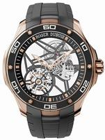 Roger Dubuis Pulsion Skeleton Flying Tourbillon Pink Gold Mens Wristwatch RDDBPU0001