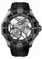 Roger Dubuis Pulsion Skeleton Flying Tourbillon Titanium Mens Wristwatch RDDBPU0002