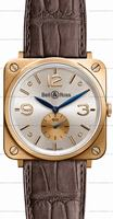 Bell & Ross BR S Mecanique Pink Gold Unisex Wristwatch BRS-PKGOLD-PEARL_D