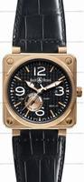 Bell & Ross BR 01-97 Reserve de marche Pink Gold Mens Wristwatch BR0197-PINKGOLD