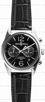 Bell & Ross BR 126 Officer Mens Wristwatch BRG126-BL-ST/SCR