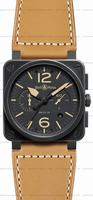 Bell & Ross BR 03-94 Chronographe Heritage Mens Wristwatch BR0394-HERITAGE