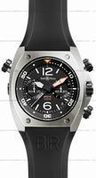 Bell & Ross BR 02-94 Chronographe Steel Mens Wristwatch BR02-CHR-BL-ST